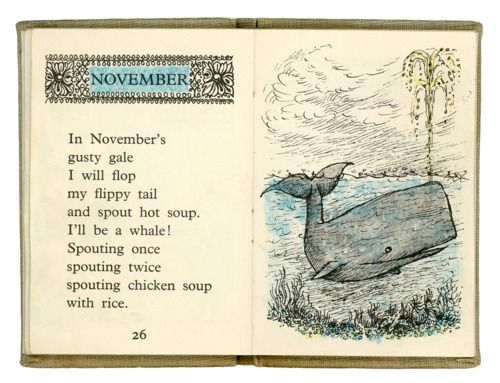 November - Maurice Sendak's Chicken Soup With Rice