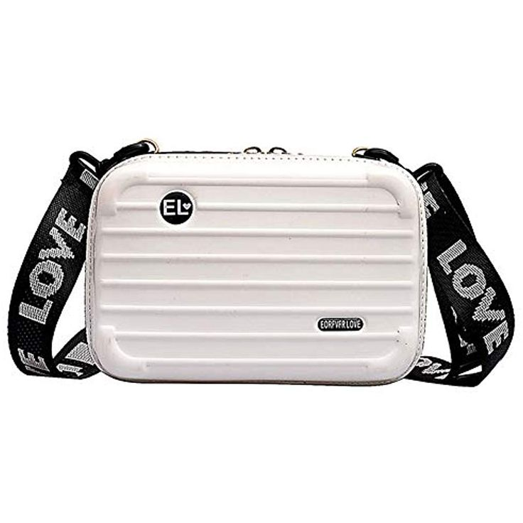 Phnirva Women Mini Hard Suitcase Wristlet Crossbody Handbag Storage Box Cosmetic…
