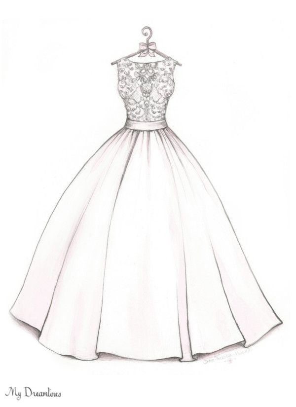 26 best images about wedding sketch on pinterest dress for How to draw a wedding dress