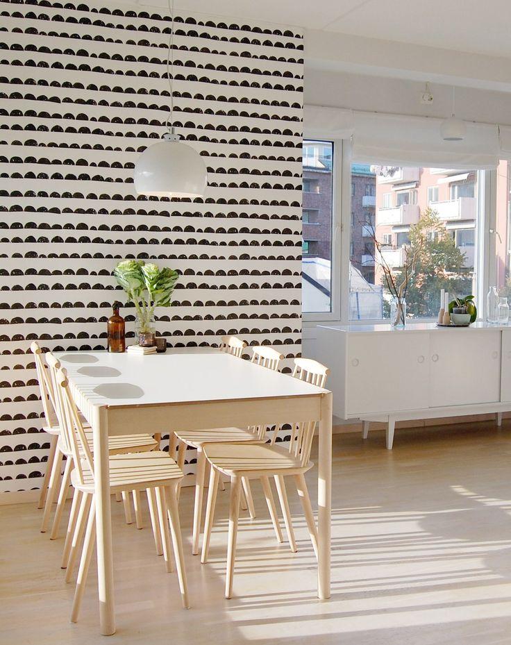 64 best Ferm Living Tapeten images on Pinterest Living room - stein tapete schwarz wohnzimmer