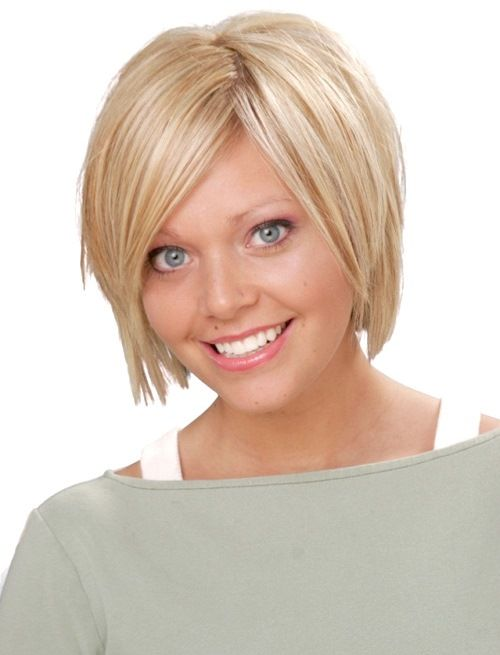 HOW TO STYLE THIS CUTE BLONDE SHORT HAIRSTYLE FOR ROUND FACES  Begin by washing …