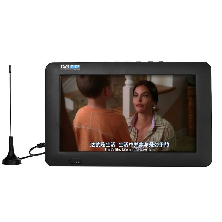 Only US$66.99, eu 9 Inch Portable DVB-T / T2 TV Player 800 * 400 TFT LCD Screen - Tomtop.com