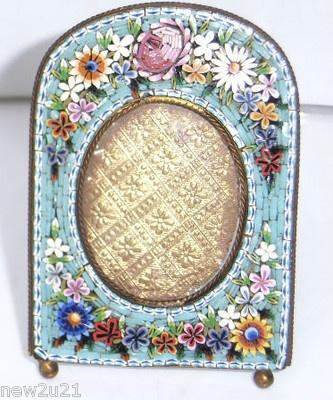 Photo Frame Italian Micro Mosaic Glass Tesserae Picture Frame Antique Victorian
