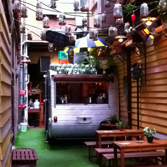 Chuckle Park, a very hip place to have a mulled wine or beer