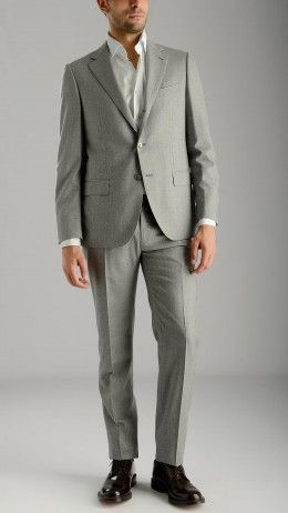 Grey suit with single breasted jacket