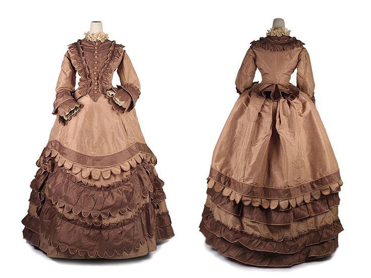Early 1870s silk dress