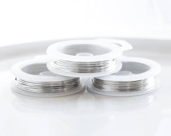 24331 Light silver wire 20 gauge Silver plated wire 0.8mm