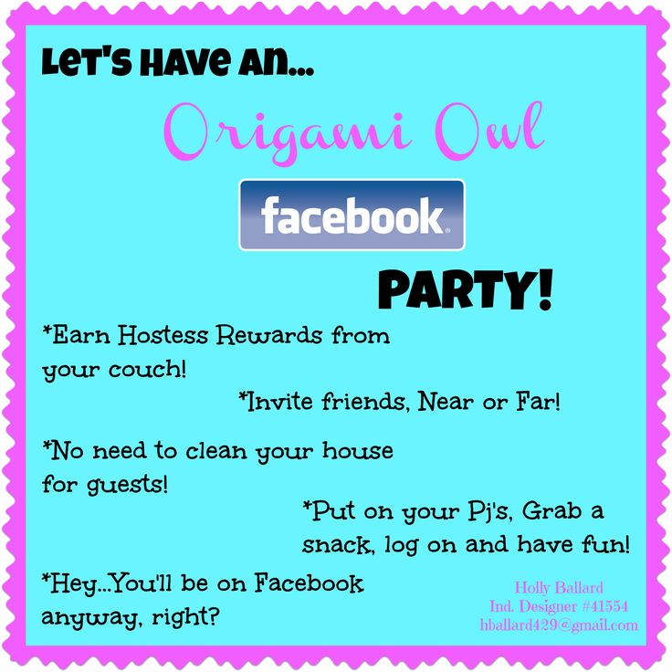Host a virtual Origami Owl party with me on Facebook! You still earn the hostess rewards! Contact me if you're interested :) https://www.facebook.com/EpicExpressions41551