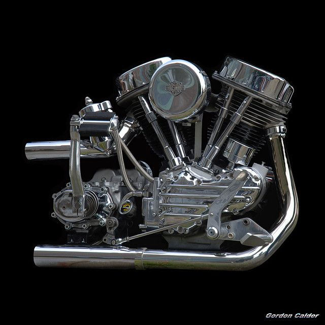 NO 6: CLASSIC HARLEY DAVIDSON PANHEAD CHOPPER MOTORCYCLE ENGINE (2) by Gordon Calder, via Flickr