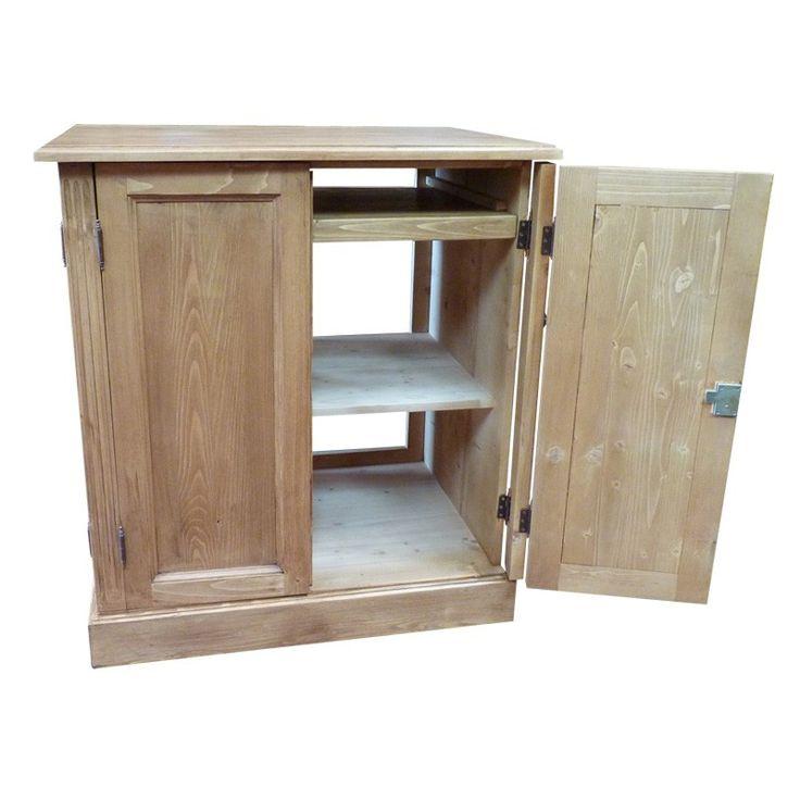 1000 id es sur le th me meuble informatique sur pinterest transfert de bois - Bureau informatique en pin ...