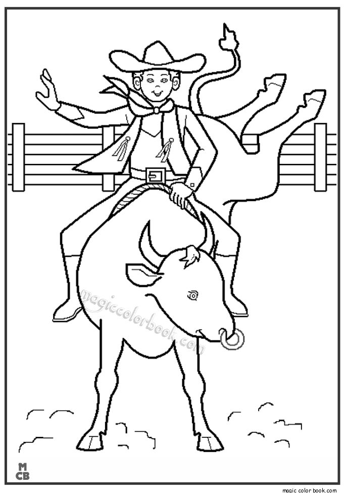 28 best Cowboy Coloring pages images on Pinterest | Coloring books ...