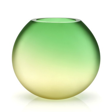 Murano Collection, Secret Dawn Green Yellow Vase