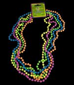 Neon 32 inch Beaded Party Necklace 5 pk