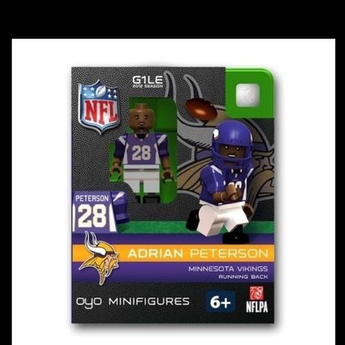 Minnesota Vikings Adrian Peterson NFL OYO Football Mini Figure Lego | eBay