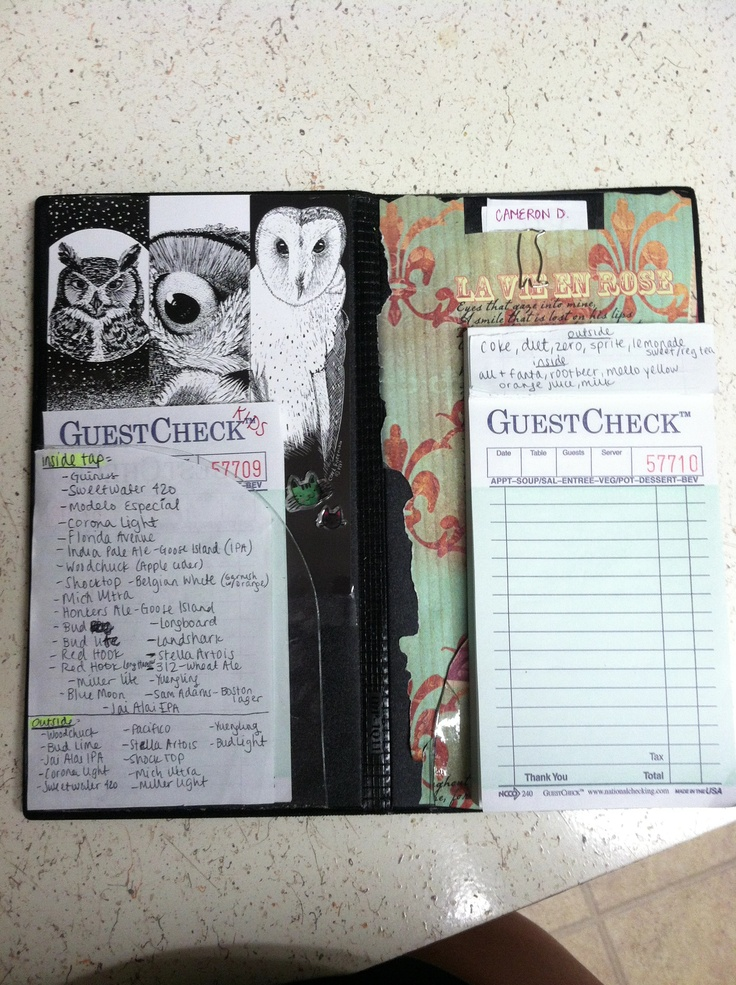 Decorated server book