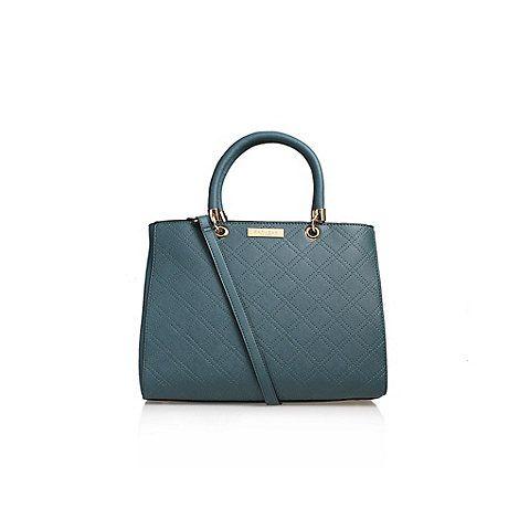 Carvela Blue 'Darla' Cross Stitch Tote Handbag With Shoulder Straps | Debenhams