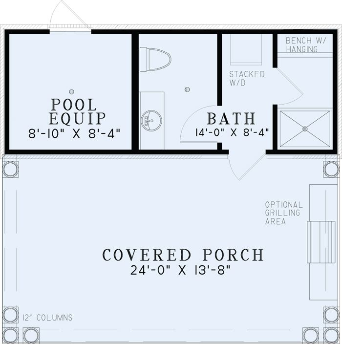 poolhouse plan with bathroom best house plans home floor 54 best images about piscine on pinterest - Plan Pool House Piscine