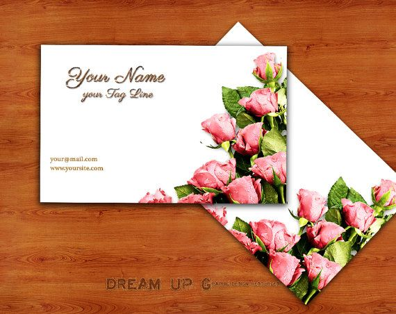 Business Card Printable  Elegant and Romantic by DreamUpGraphic