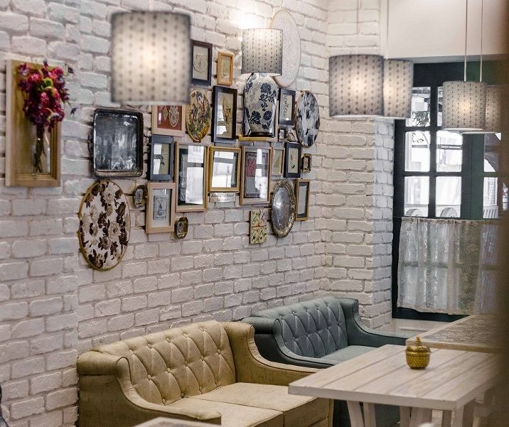 Interiors at The Grandmama's Cafe, Dadar East