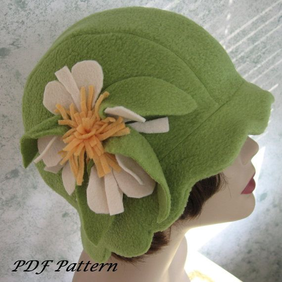 Womens Hat Pattern Flapper Style With Scalloped Brim And Lrg Flower Trim- Easy To Make May Resell Finished