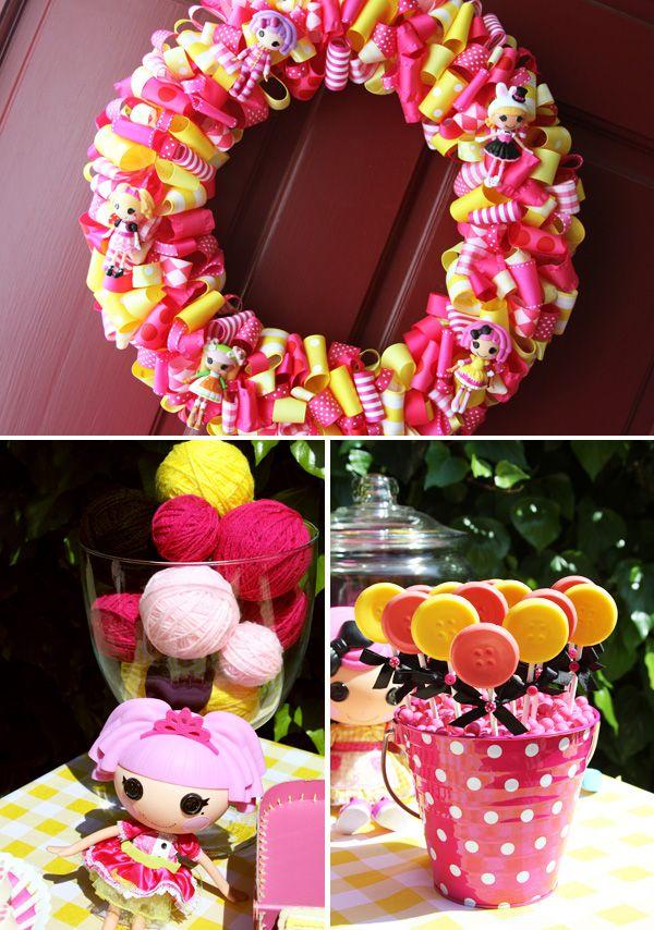 Creative Pink & Yellow Lalaloopsy Birthday Party