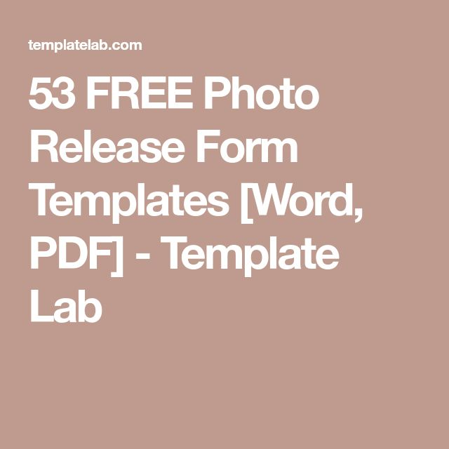 53 FREE Photo Release Form Templates [Word, PDF] - Template Lab