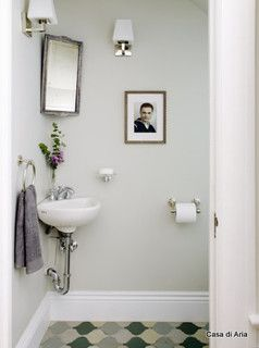 SMALL SINK Solution For Very Tiny Powder Room In Living Room Area