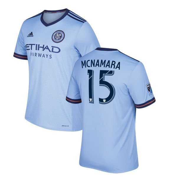 Thomas McNamara New York City FC adidas Youth 2017 Primary Replica Jersey - Light Blue - $94.99