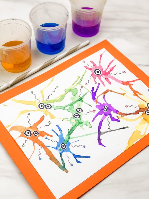 Make This Cute Germ Blow Portray Artwork With Straws