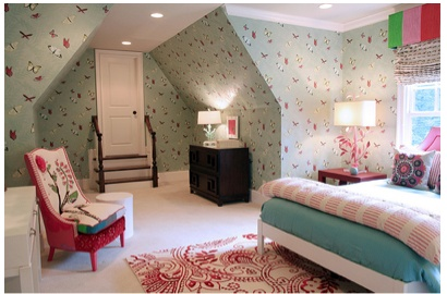 Http girly interiors pinterest for Girly wallpapers for bedrooms