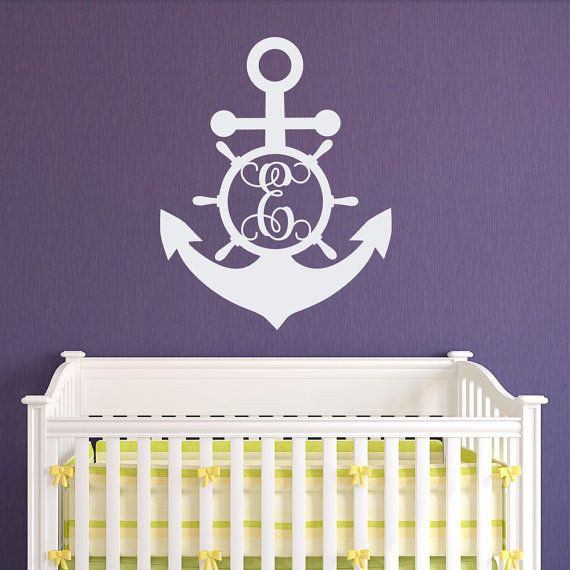 Best Monogram Wall Decals Images On Pinterest - Monogram wall decals for nursery