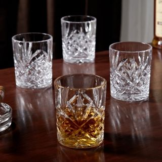 Dublin Cut Crystal Whiskey Glasses, Set of 4, from HomeWetBar.com