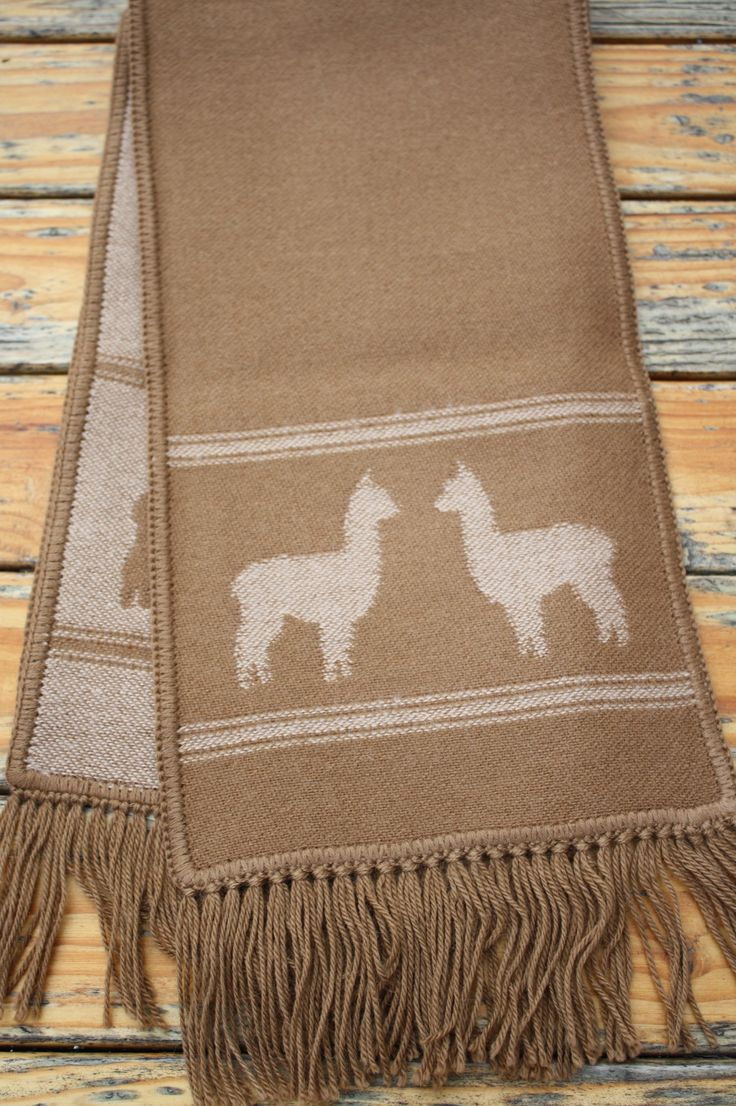 Alpacas on Alpaca Scarf