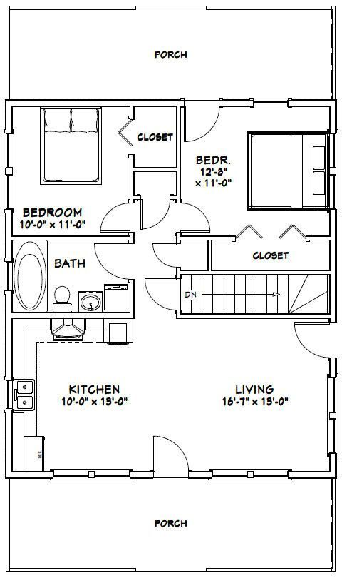 880 best images about little house plans on pinterest for 28x32 floor plan