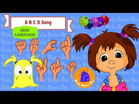 ABC Song - Learn Sign Language Alphabet | ASL | Kids Rhyme Box - YouTube #kidsrhymebox #nurseryrhymes #abcdsong #signlanguage #halloweenkids #asl #americansignlanuage #bloopandkatty