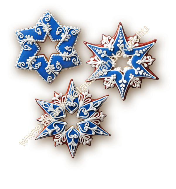 blue &white xmas cookie