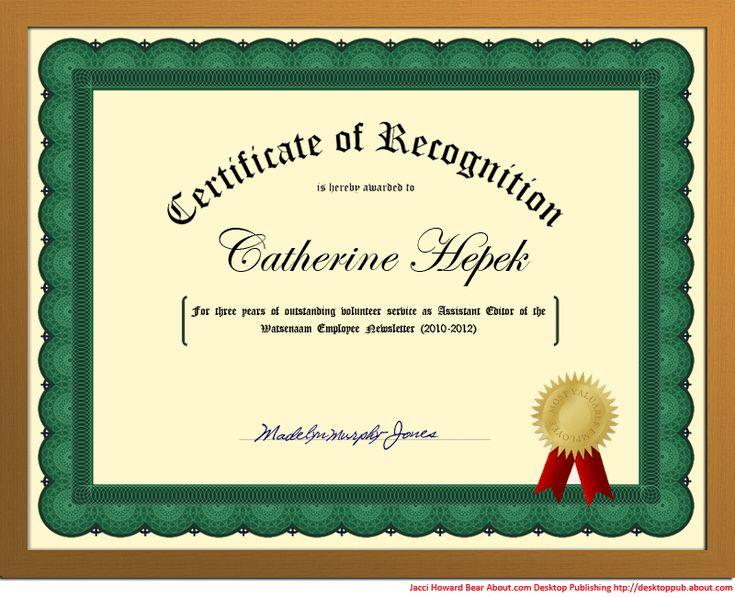 17 best ideas about Certificate Design Template – Certificate Design Format