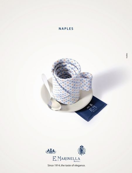 Since 1914, the taste of elegance.    Advertising Agency: Foolbite, Monza, Italy  Art Directors: Paolo Guidobono, Michele Sartori  Copywriter: Tiziano Brugnetti  Photographer: Michele Sartori  Retoucher: Paolo Guidobono
