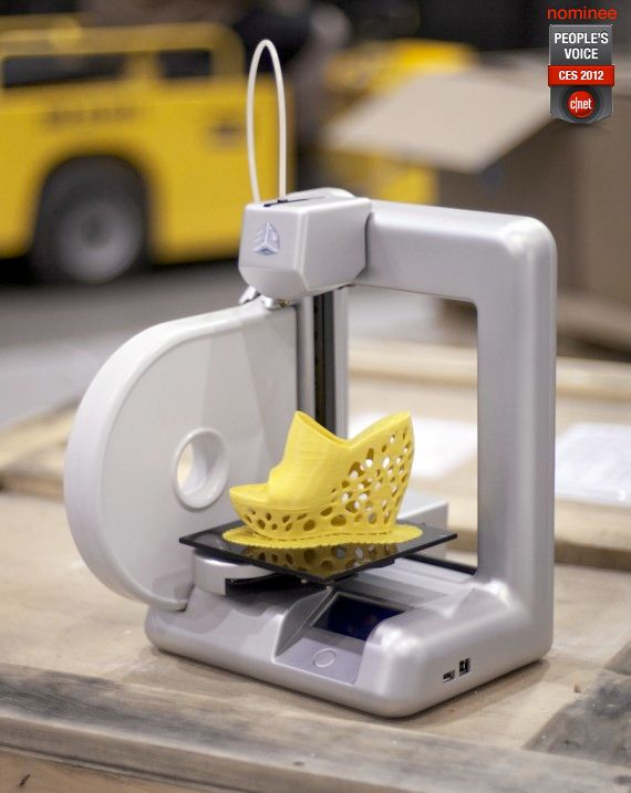 Design and print your very own custom shoes at home...apparently you can make shoes out of cheese.
