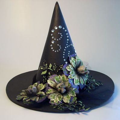 Fabulous witch hat by Pink Penny Designs. Halloween Fashionista Fabulous Witches Theme Party & Decorating Ideas