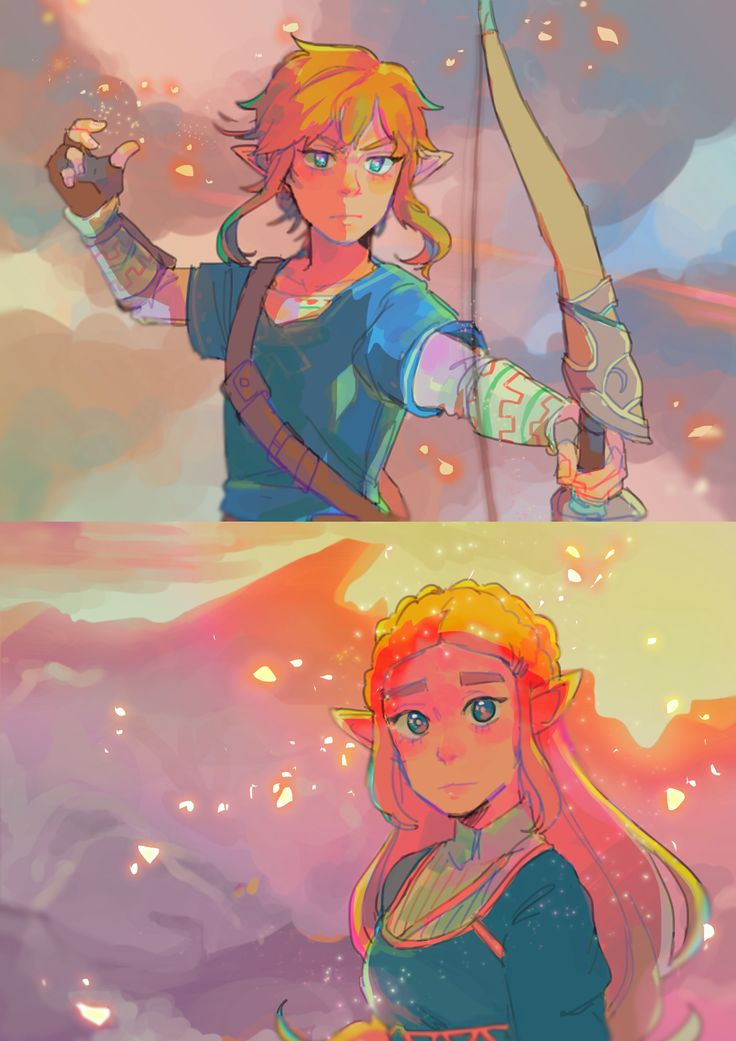 Breath of the Wild Link and Zelda by routexx #nintendo #legendofzelda #fanart