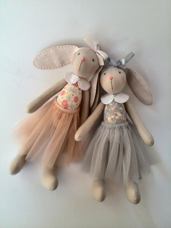 Bunny plush sisters Rag doll Bunny sisters Fabric toys Stuffed animals toy Personalized Bunny Rabbits Sisters girlfriends Cloth doll