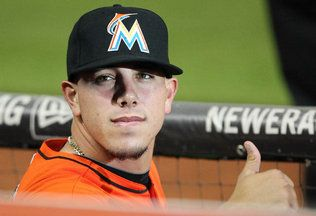 Jose fernandez of Miami marlins shirtless | Miami Marlins pitcher Jose Fernandez before the game against the New ...