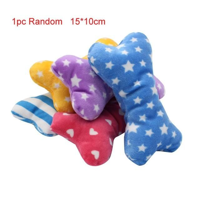 pawstrip 1pc Plush Canine Toys Squeaky Bone Ice Cream Carrot Pet Chew Toy Interactive Cat Toys Pet Canine Sound Toys For Small Canine