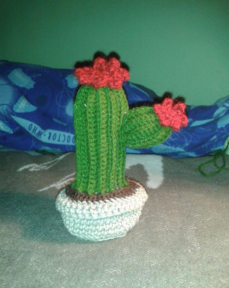 Kaktusz... :)) Tök jól mutat az ablakban...:D Minta: http://elfluvsdwarf.blogspot.hu/2010/07/crochet-cactus-garden-free-pattern.html