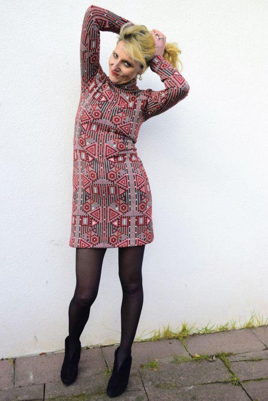 Weihnachtsoutfit Milliblusstoff Und Stil Schlauchkleid Diy Mode