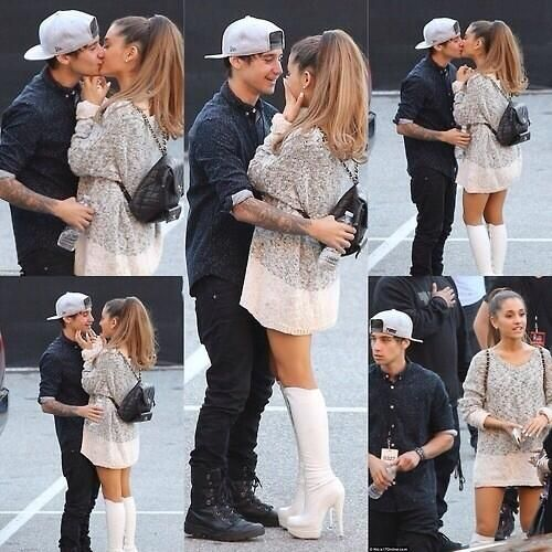 Ariana Grande and Jai Brooks were seen kissing backstage at the iHeart Radio Music Awards!