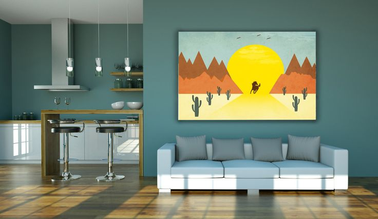 Poster prints, wall art decor, living room, landscape print, landscape art, kids room,  wild and free horse,  desert landccape, wild west by GrafPoster on Etsy