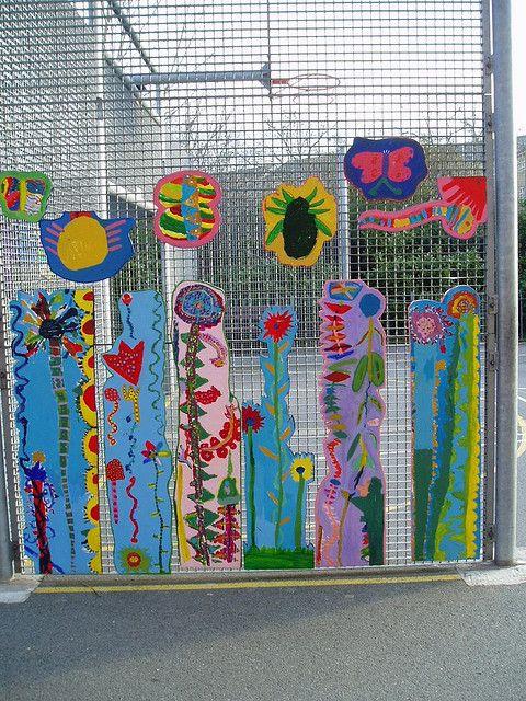Playground Art Avery S Garden Garden Mural Outdoor