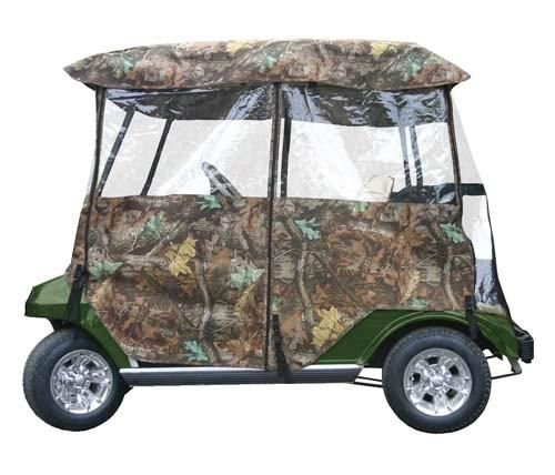 Heavy Duty Universal Golf Cart Camo Hunting Four Sided Enclosure - WHEELZ Custom Carts & Accessories